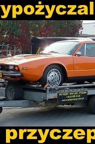 Przyczepa do przewozu samochodów Laweta samochodowa zabudowana-2