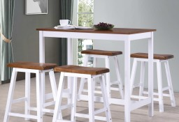 vidaXL Stół barowy i taborety z litego drewna, 5 elementów275232