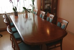 Stylowe meble, komplet, lite drewno, woj. łódzkie, okazja, stół, witryna, komoda