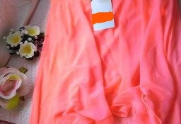 (38/M) H&M/ Ekskluzywna, asymetryczna, neonowa spódnica z Wiednia/ jak NOWA