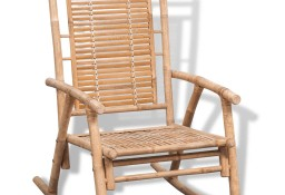 vidaXL Fotel bujany, bambus41894