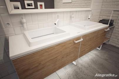 Meble łazienkowe na wymiar Szafki pod umywalkę na zamówienie, blaty łazienkowe Corian, Krion, Staron, MDF lakierowany, forniry
