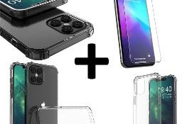 Pancerne etui A-Shock + szkło do iPhone 12 Pro Max