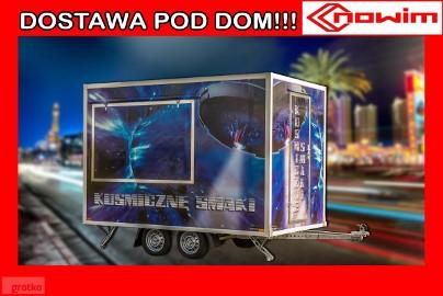 25.18.112 Przyczepa gastronomiczna handlowa DMC 750 2 osiowa kontener izoterma izolowana wystawowa targowa ekspozycyjna eventowa ...