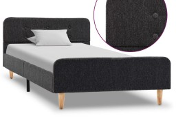 vidaXL Rama łóżka, ciemnoszara, płótno konopne, 90 x 200 cm 284894