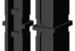 Łącznik plastikowy do profili aluminiowych typ I 30x20,czarny, składany30x20x2