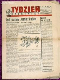 Tydzień Robotnika nr 49 z 21.11.1937 - gazeta socjalistyczna