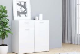 vidaXL Szafka na wysoki połysk, biała, 80x36x75 cm, płyta wiórowa801829