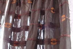 zasłony balkonowe ciemnobrązowe 2 szt.