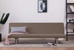 vidaXL Sofa, rozkładana, taupe, poliester282201