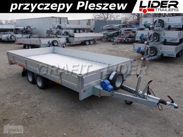 """TM-199 przyczepa 410x204x30cm, Carplatform 4120S, laweta, platforma, podłoga aluminiowa, burty aluminiowe, koła 10"""", DMC 2700kg"""