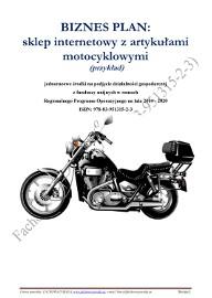 BIZNESPLAN sklep internetowy z artykułami motocyklowymi 2018 (przykład)