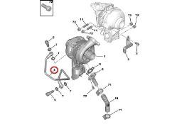 Przewód zasilający turbinę silniki 1.6 HDI CITROEN PEUGEOT VOLVO MAZDA FORD 037968 NUMER 9651785280 Citroen C4 Picasso
