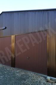 Garaż blaszany magazyn lekka hala stalowa z bramą przesuwną-2