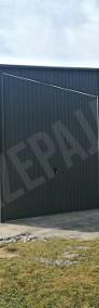 Garaż blaszany magazyn lekka hala stalowa z bramą przesuwną-4