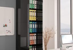 vidaXL Szafa biurowa, wysoki połysk czarna, 60x32x190cm, płyta wiórowa800304