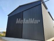 Garaż blaszak drewnopodobny różne kolory brama uchylna PRODUCENT