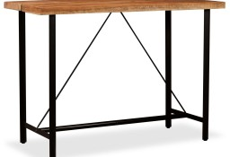 vidaXL Stolik barowy, drewno akacjowe, 150x70x107 cm245437