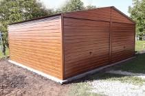 Garaż blaszany 6x5 drewnopodobny dwustanowiskowy MOCNA KONSTRUKCJA