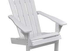 vidaXL Krzesło ogrodowe, drewniane, białe 40860
