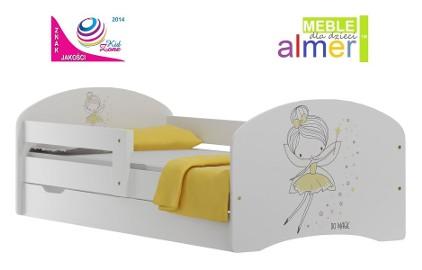 łóżko dla dziecka 140x70 z szufladą i grafiką najwyższej jakości UV