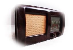 Piękne stare radio lampowe z lat 40-50-tych