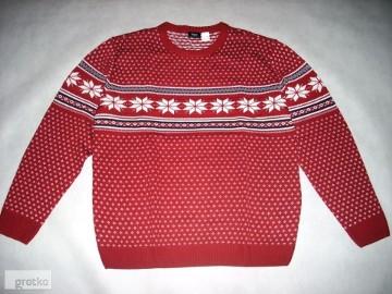 Piękny Sweter Męski Norweski NOWY 2XL 3XL
