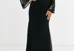 (38/M) Wytworna, bogato zdobiona suknia wieczorowa z Londynu/ NOWA