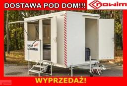 25.29.101 Nowim przyczepa socjalna mobilne biuro pracownicza stołówka szatnia wc toaleta kuchnia lekka kat. B bez opłat viatoll kontener