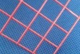 Siatka zgrzewana czerwona panel 510x510 mm ,2mm
