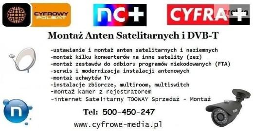 Montaż ANTEN ZAKRZEWO, DĄBROWA, WIĘCKOWICE, Sierosław TEL: 500-450-247