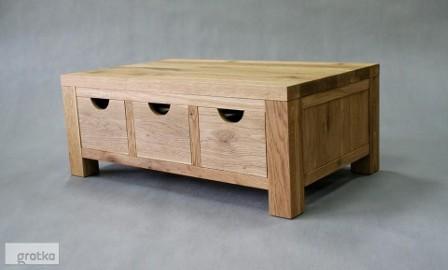 stolik / ława / komoda Patrizio - dąb naturalny, lite drewno