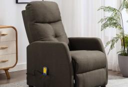 vidaXL Rozkładany fotel masujący, kolor taupe, tapicerowany tkaniną289834