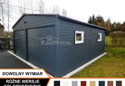 Nowoczesne garaże blaszane drewnopodobne oraz akrylowe garaż blaszany 6x5