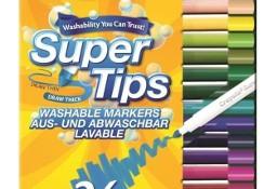 Pisaki 24 Kolory Mazaki Flamastry Crayola Super Końcówki