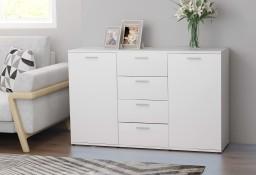 vidaXL Komoda, biała, 120x35,5x75 cm, płyta wiórowa801328