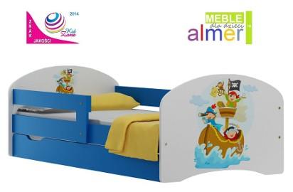 łóżko dziecięce 140x70 z szufladą i bajkowym wzorem - 53 modele