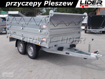 LT-018 przyczepa + plandeka 260x125x72cm, do ogrodnictwa, przewozu maszyn, tandem, DMC 750kg