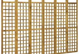 vidaXL 6-panelowy parawan pokojowy/trejaż, drewno akacjowe, 240x170 cm 46564