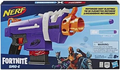 Nerf FORTNITE SMG-E Blaster na Baterie Wyrzutnia HASBRO