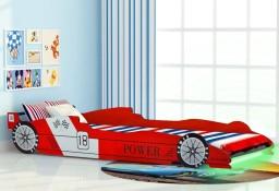 vidaXL Łóżko dziecięce w kształcie samochodu, 90 x 200 cm, czerwone243936