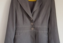 Szara elegancka marynarka 40 L garnitur garsonka do biura żakiet blazer