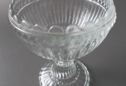 Cukierniczka Cukiernica szklana Puchar Kielich szklany ART DECO z XXw.