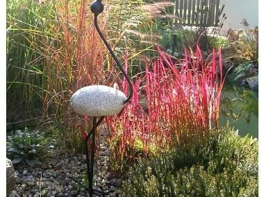 Ptak BOCIAN DUŻY, rzeźba, ozdoba ogrodowa, kamień-1