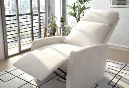 vidaXL Rozkładany fotel telewizyjny, biały, sztuczna skóra244298