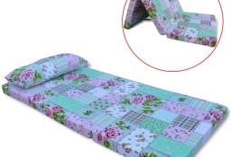vidaXL Składany materac dziecięcy wzór w kwiaty 243247