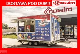 99.226 Nowim przyczepa gastronomiczna z wyposażeniem lody Marsjano handlowa sprzedażowa budka food truck DMC 2000 kg maszyna do lodów ...