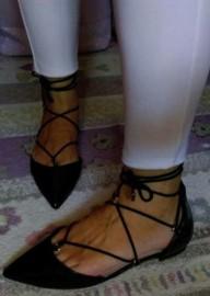 (40) ASOS/ Czarne , sznurowane baleriny biznesowe z Londynu/ półbuty, mokasyny/ NOWE
