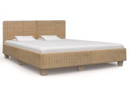 vidaXL Ręcznie wyplatana rama łóżka z rattanu, 180x200 cm 283090