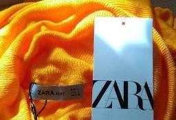 (40/L) ZARA/ Długa, dzianinowa sukienka z lejącym golfem z Madrytu/ NOWA